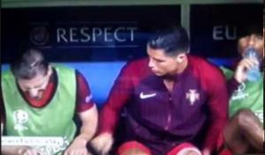 Refleks Ronaldo karena Kesal gara-gara cendera lutut