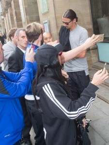Zlata Ibrahimovic di jaga Ketat Oleh Polisi MU
